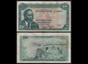KENIA - KENYA 10 Shillings Banknote 1974 Pick 7e fast VF (18027