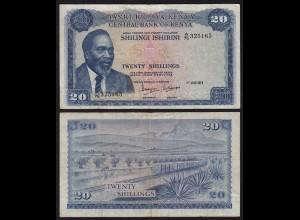 KENIA - KENYA 20 Shillings Banknote 1973 Pick 8d VF (18039
