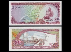 MALEDIVEN - MALDIVES 20 Rufiyaa Banknote 1987 Pick 12b UNC (18074