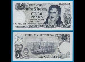 Argentinien - Argentina 5 Pesos Replacement Banknote UNC Pick 294 (18124
