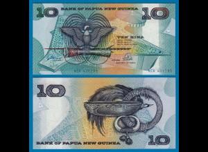 PAPUA NEUGUINEA - NEW GUINEA 10 Kina (1988) UNC Pick 9b (18125