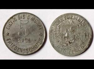 Garmisch-Partenkirchen 5 Pfg. Zink 1917 Notgeld (r1066