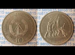 DDR 10 Mark von 1972 Gedenkstätte Buchenwald bankfrisch (n204