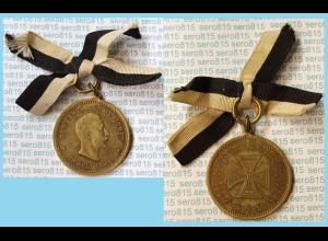 Crefeld - 1896 Tragbare Medaille/Orden 50 Jahre Landwehr Unsterstützung (m390