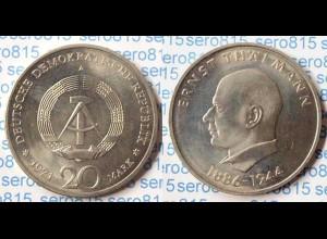 DDR 20 Mark von 1971 Ernst Thaelmann bankfrisch (n198