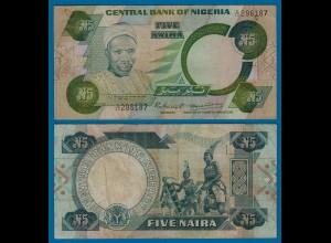 Nigeria 5 Naira Banknote 1979-1984 Pick 20 sig.4 VF (18183