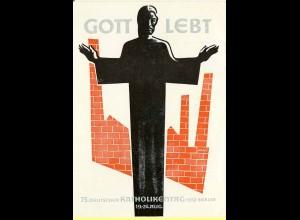 AK Berlin 75.Katholikentag 1952 Gott lebt o.Karte (0002