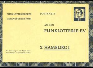 Berlin Funklotterie Postkarte FP 7 * 1963 (0239