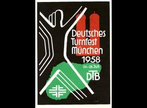 AK Deutsches Turnfest München 1958 DTB m.SST (0461