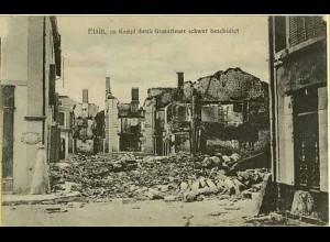 AK Etain WW1 Beschädigte Häuser Feldpost Lothringen (0489