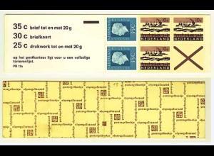 Niederlande Markenheftchen 13, NL 12a ** Zählbalken (0524