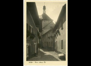 AK Laufen Oberbayern Echt-Foto Oberen Tor (1807