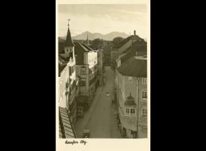 AK Laufen Oberbayern Echt-Foto Straßenkarte (1803