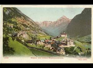 AK Schweiz Wassen und mittlere Mayenreussbrücke (1375