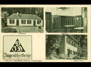 AK Jugendherberge Auerbach Fürstenlager Hexehaisje (1547