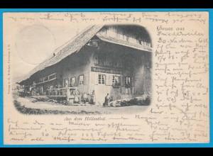 AK Höllenthal Eisenbach Gasthof Pferde Trachten 1898 (1663