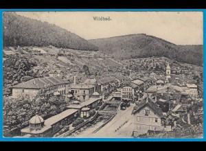 AK Wildbad Schwarzwald Calw Gesamtansicht (1733