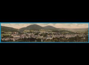 AK 3-fach Faltkarte Baden-Baden Gesamtansicht 1918 (1769