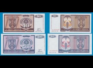 BOSNIA - HERZEGOVINA 10, 500 Dinara 1992 UNC (18249