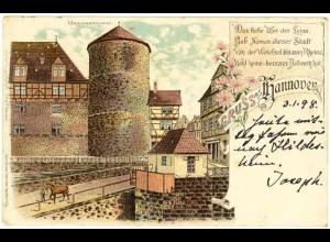 AK Litho Hannover Beguinenthurm 1898 (2233