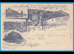 AK frühes Litho Hitzacker Villenpartie Hafen 1897 (2343