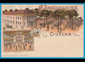 AK Litho Goslar a.Harz Bürgergarten Tanz-Saal (2404
