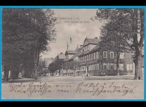 AK Clausthal-Zellerfeld i.Harz Hotel Rathaus Markt (2410