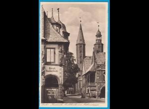 AK Goslar Kaiserworth Marktkirche Rathaustreppe (2424