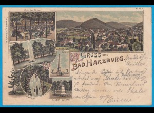 AK Litho Bad Harzburg Goslar Blick Butterberg 1897 (2426