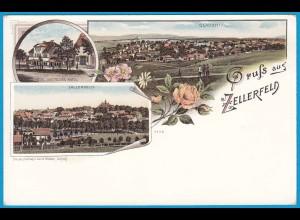 AK Litho Clausthal Zellerfeld Hotel Deutsches Haus (2450