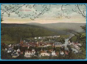 AK Hann Münden Fluß Panorama Gesamtansicht (2514