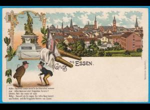 AK Litho Essen Krieger Denkmal 1908 (2579