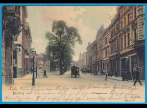 AK Duisburg Königstrasse Pferdekutsche 1905 (2591
