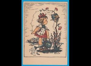 AK Kinder Mund gemalt Arnulf Erich Stegmann (2730