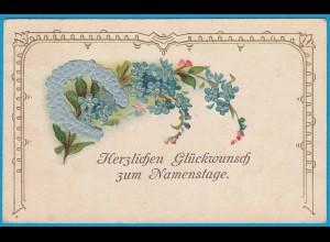 AK Prägekarte Namenstage Hufeisen 1908 (2743